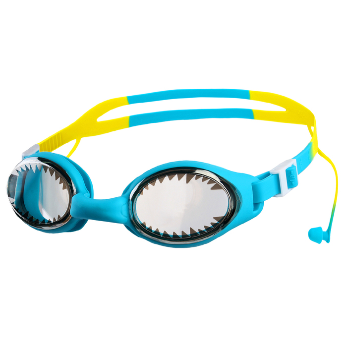 Очки для плавания с берушами детские BL93S, цвета микс