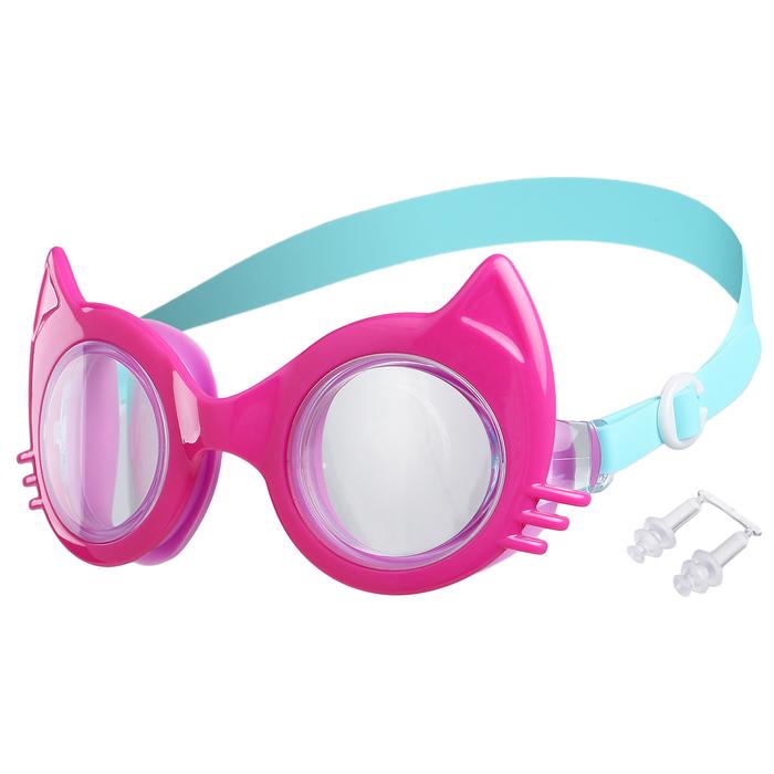 Очки для плавания, цвет фуксия