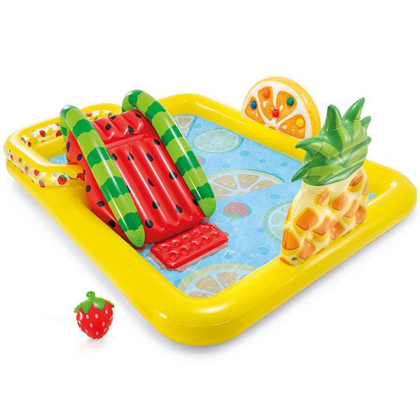 Детский надувной игровой бассейн Intex Fun'N Fruity 244х191 см, 57158NP Жёлтый