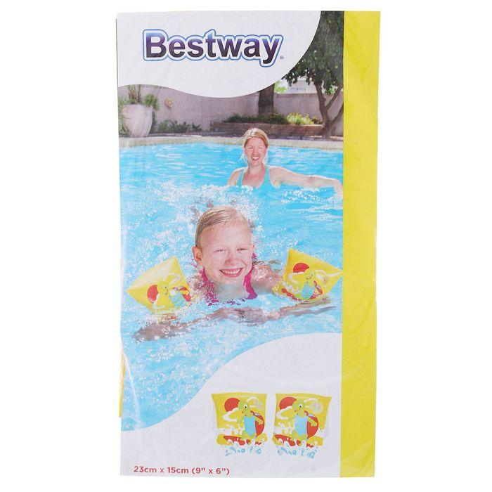 Нарукавники для плавания «Черепашки», 23 х 15 см, 3-6 лет, цвет МИКС Bestway