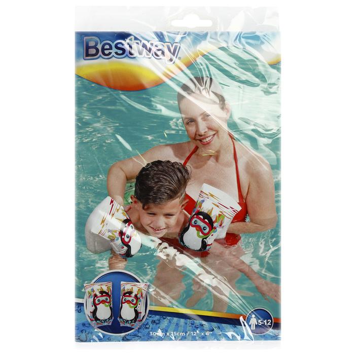 Нарукавники для плавания Jungle Trek, 30 x 15 см, 6-12 лет, цвета МИКС Bestway