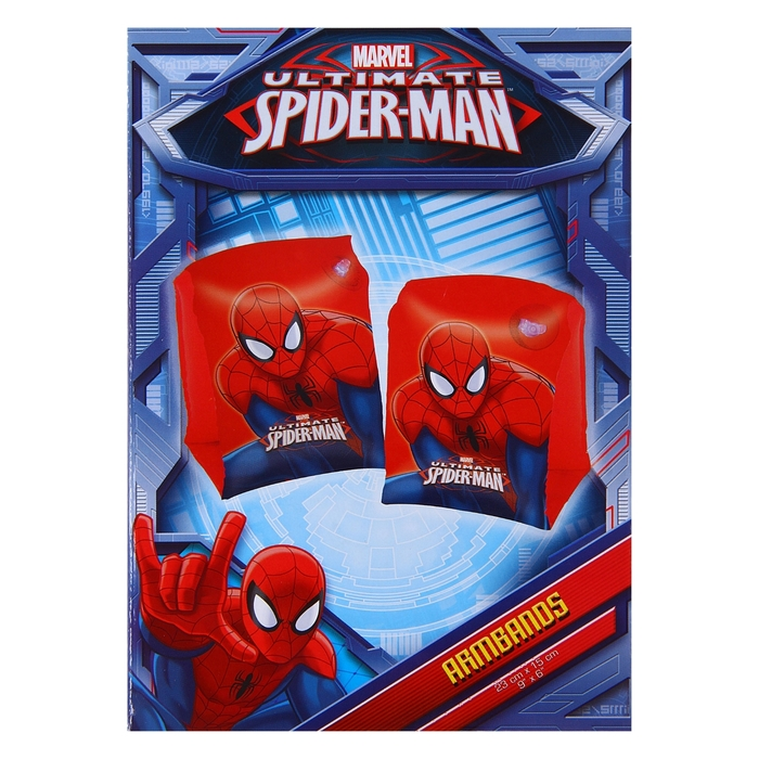 Нарукавники для плавания «Человек-паук», 23 х 15 см, 3-6 лет