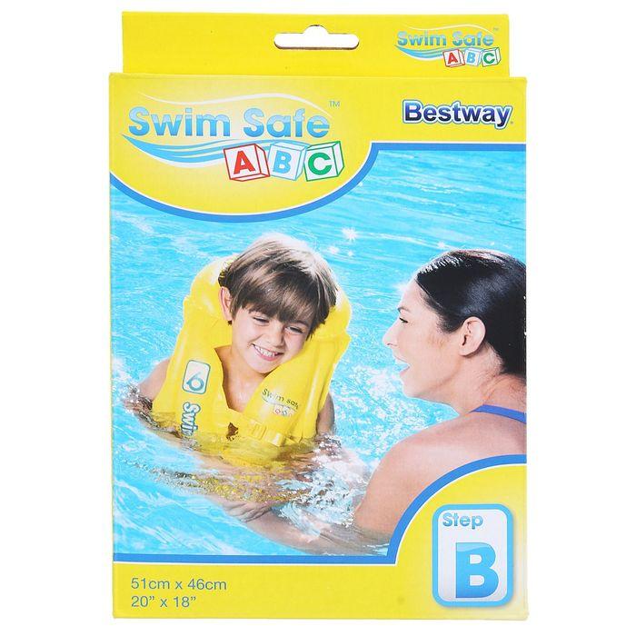 Жилет надувной Swim Safe, ступень B, 51 х 46 см, 3-6 лет