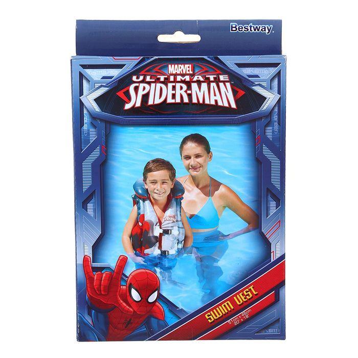 Жилет надувной «Человек-паук», 51 х 46 см, 3-6 лет