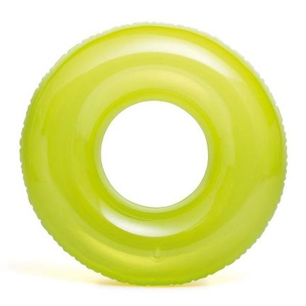 Надувной круг Intex Transparent Tubes возраст 8+ (59260NP) зеленый
