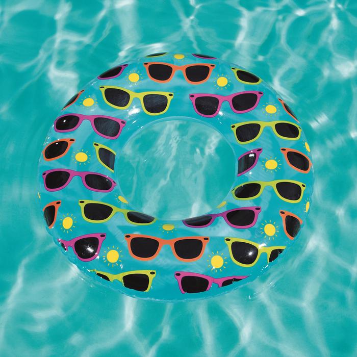 Надувной круг для плавания «Дизайнерский», от 8 лет, МИКС