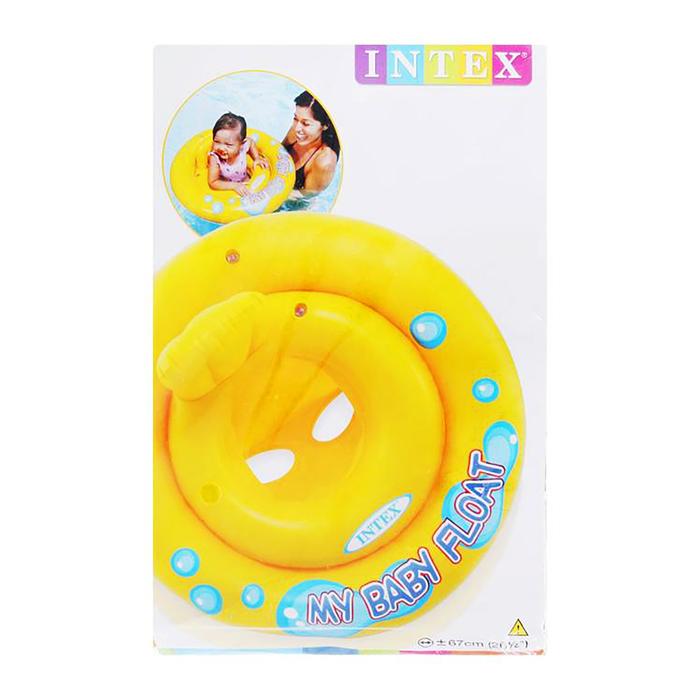 Круг для плавания с сиденьем My baby float, d=67см, 1+ 59574NP INTEX