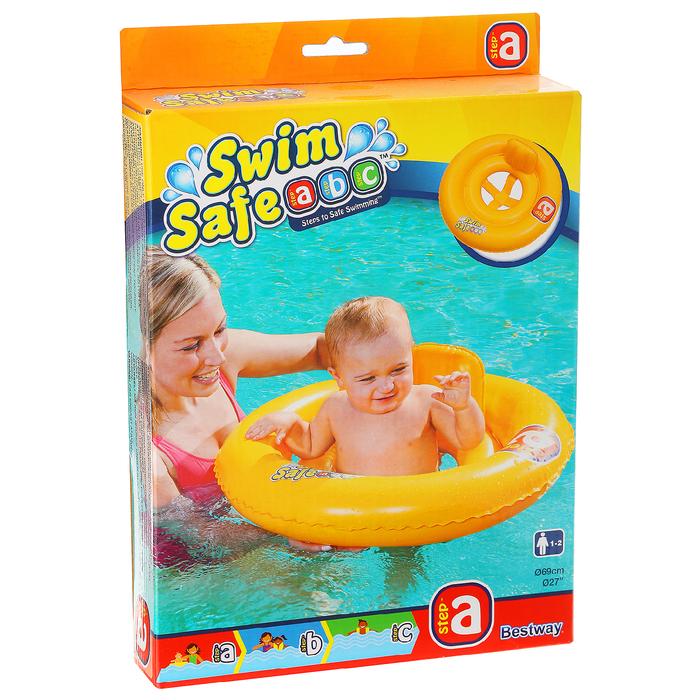 Круг для плавания с сидением и спинкой двухкамерный Swim Safe, ступень А, от 1-2 лет