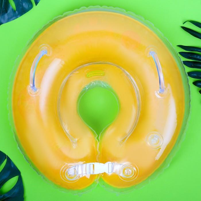 Круг на шею для купания «Африка» с погремушками, от 1 мес.