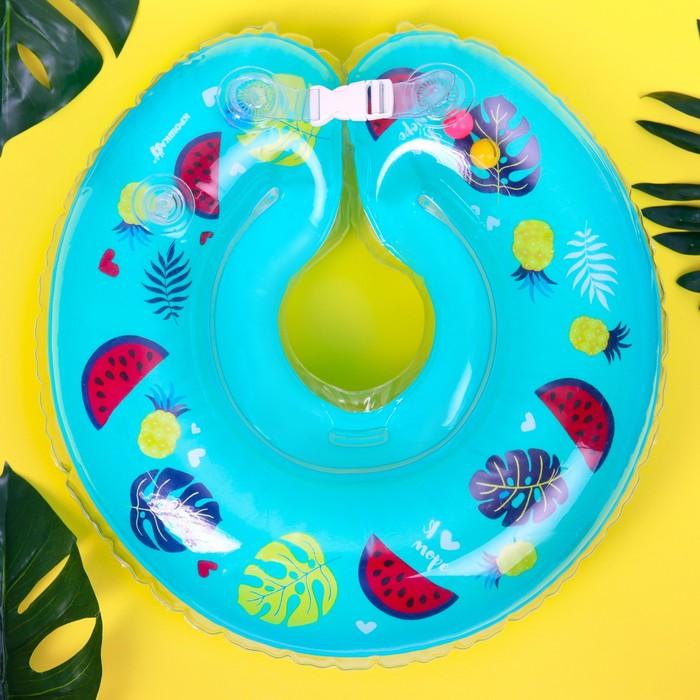 Круг на шею для купания «Тропики» с погремушками, от 1 мес.