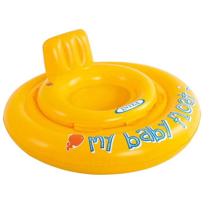 Круг для плавания с сиденьем My baby float, 70 см, от 6-12 месяцев 56585NP INTEX