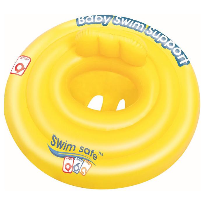 Круг для плавания с сиденьем и спинкой, 4х камер Swim Safe, ступень А, 69 см от 0-1 года