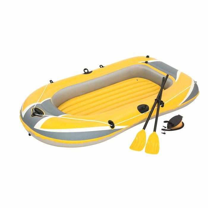 Надувная лодка 228х121 см с вёслами и насосом (61083)