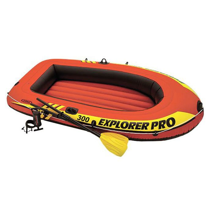 Лодка Explorer pro 300, 3-х местн., 244х117х36 см, вёсла, ручной насос, до 200 кг 58358NP INTEX