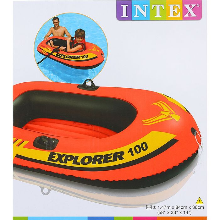 Лодка Explorer 100 одноместная, 147х84х36 см, от 6 лет, до 55 кг 58329NP INTEX