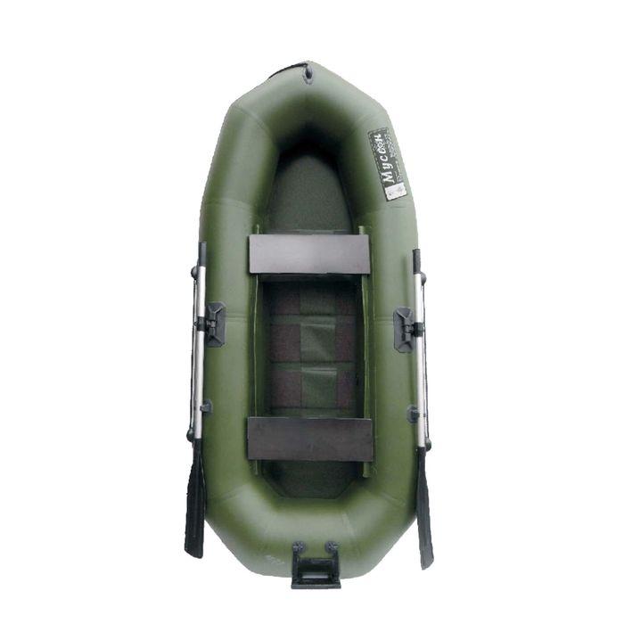 "Лодка ""Муссон"" R-260 PC ТР реечная слань+транец, цвет олива"