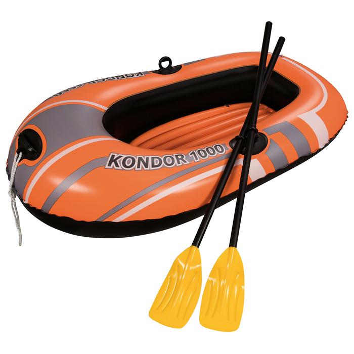 Лодка Kondor 1000 одноместная (весла 124 см) до 55 кг, 155х97 см, от 6 лет