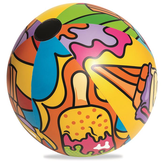 Мяч надувной «Поп-арт», от 3 лет, диаметр 91 см
