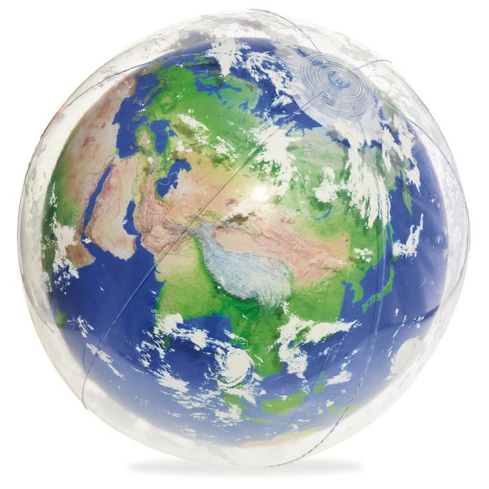 Мяч пляжный «Земля» 61 см с подсветкой, от 2 лет