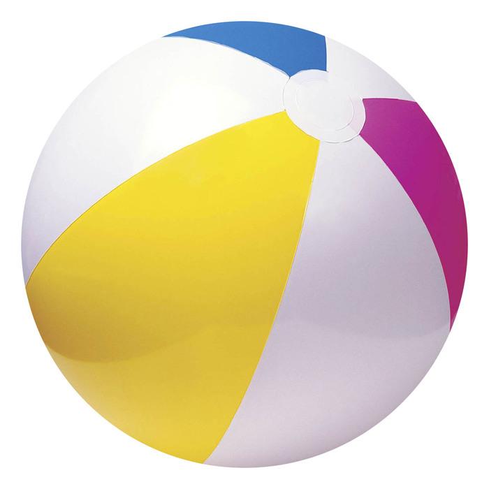 Мяч пляжный «Цветной» 61 см, от 3 лет