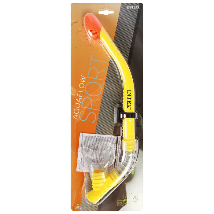 Трубка для плавания SPORTS Easy-Flo, защита от брызг, от 8 лет 55928 INTEX