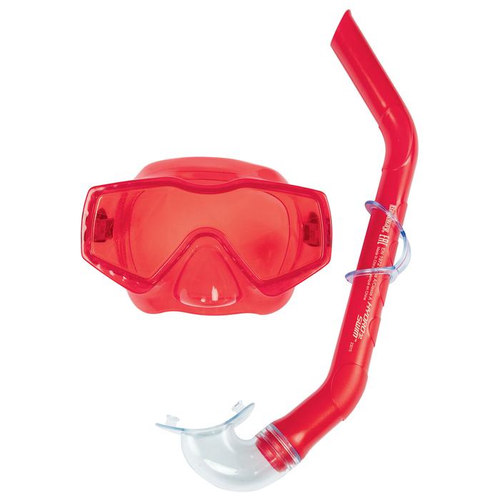Набор для плавания Aqua Prime (маска, трубка) в ассортименте, от 14 лет (24037)