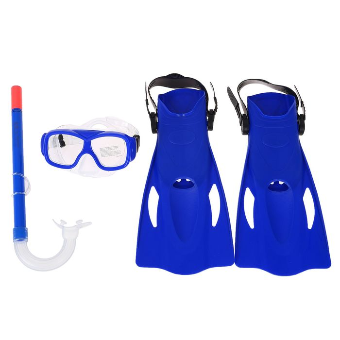 Набор для плавания SureSwim, 3 предмета: маска, ласты, трубка, 7-14 лет, цвет МИКС Bestway