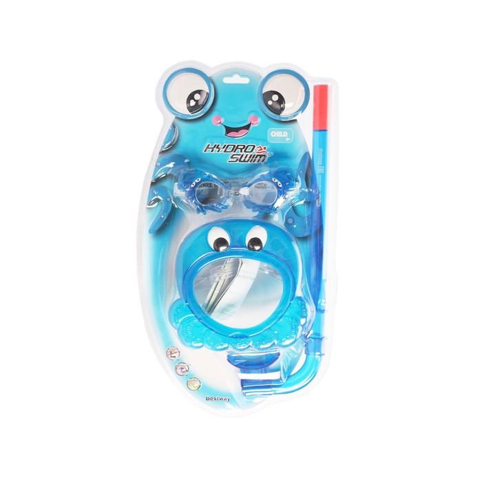 Набор для подводного плавания Bestway «Морские жители» (маска, очки, трубка)