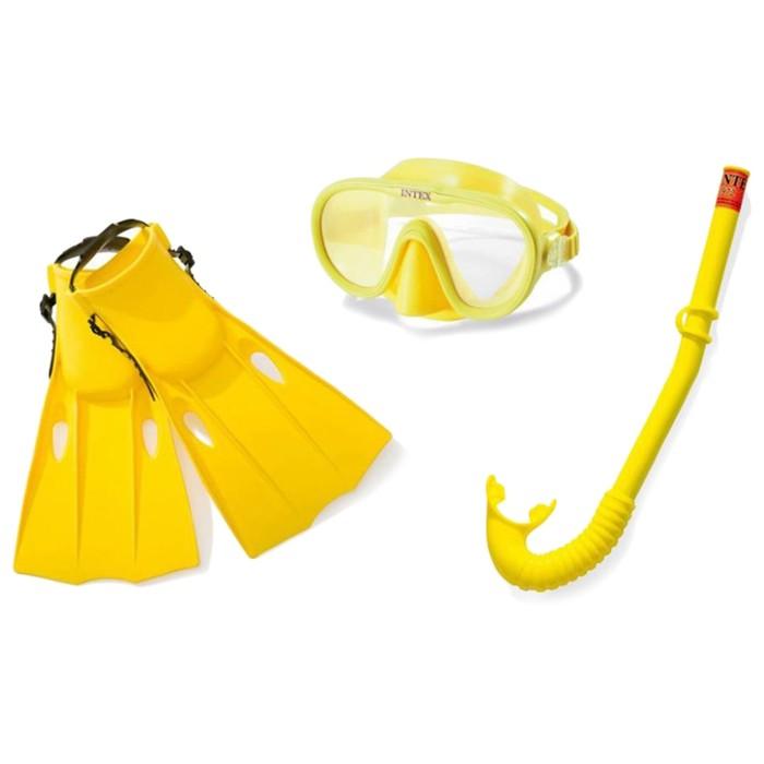 Набор для подводного плавния Intex «Искатель приключений» (маска, трубка, ласты)