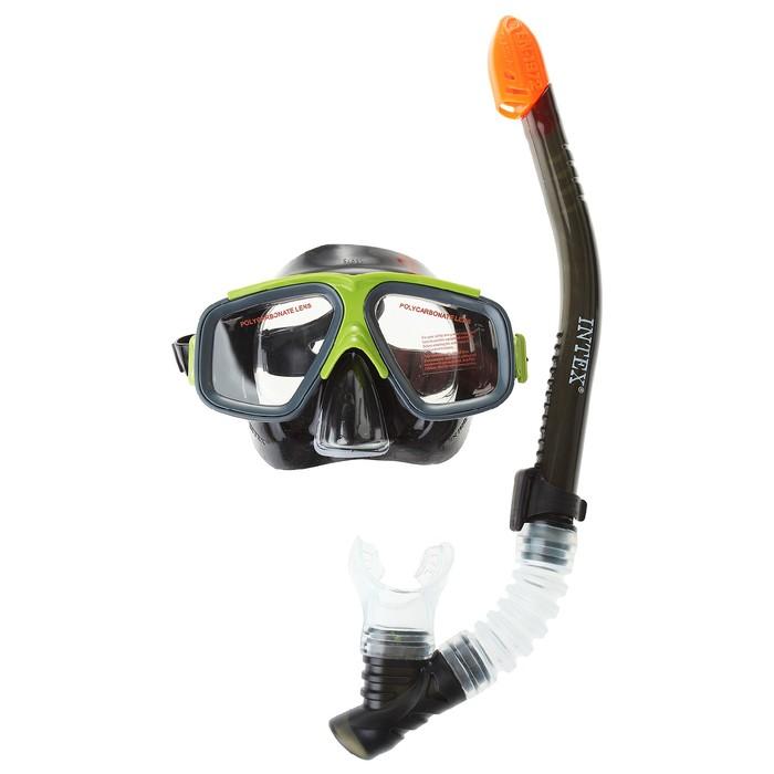 Набор для подводного плавания «Сёрфинг», 3 предмета: маска, трубка, ласты 28 см, от 8 лет INTEX