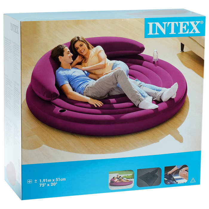 Диван-кровать надувной, круглый, 191х53 см 68881NP INTEX