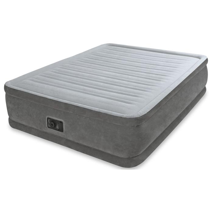 Надувной матрас Comfort-Plush Queen, с встроенным насосом, 152х203х33 см 67770 INTEX
