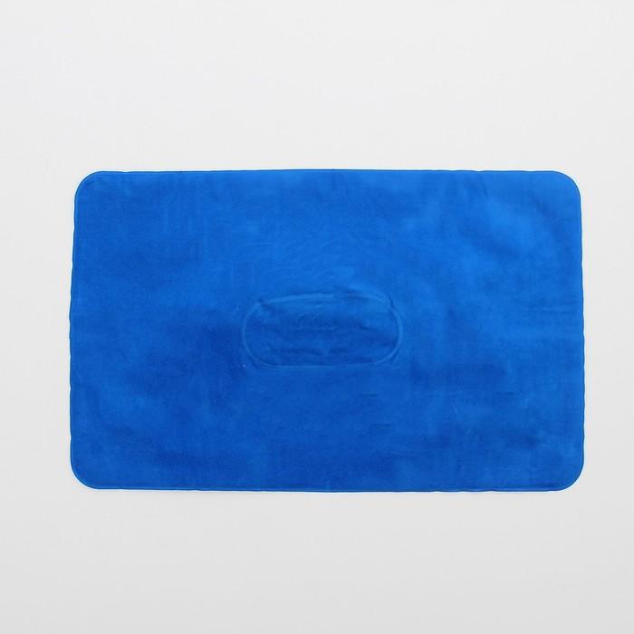 Подушка дорожная, надувная, 38 х 24см, цвет МИКС
