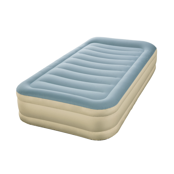 Кровать надувная Essence Fortech Twin 191х97х36 см, с подголовником, со встр. нас. 69005