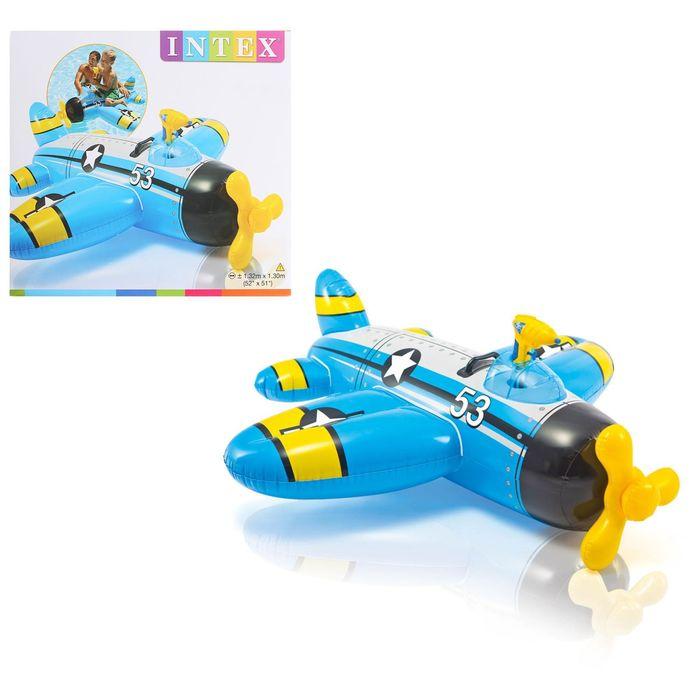 Надувная игрушка для плавания «Самолет», 132х130 см, от 3-лет, цвета МИКС 57537 INTEX