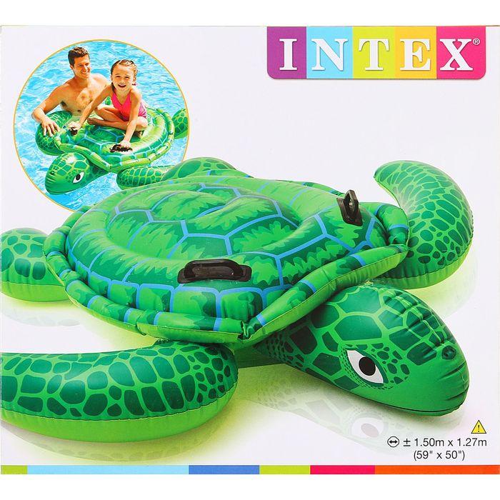 Игрушка надувная для плавания «Черепаха» с ручками, 150х127 см, от 3 лет 57524NP INTEX