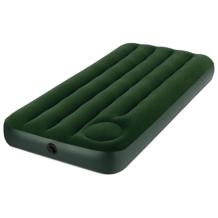 Матрас надувной Intex Downy Jr. Twin со встроенным ножным насосом (66950)