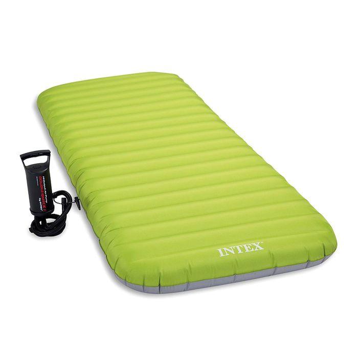 Матрас надувной с ручным насосом, 76х191х13 см 64780 INTEX