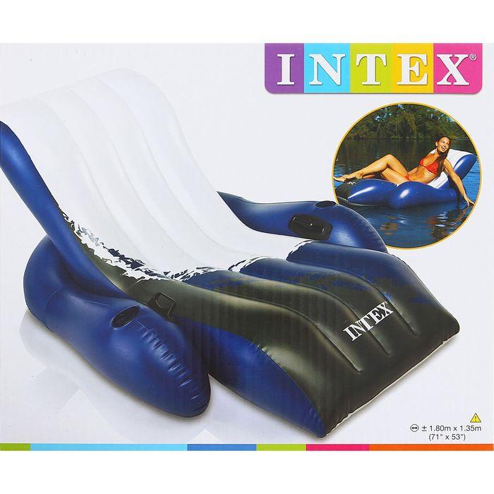 Кресло-шезлонг с ручками «Волна», 180х135 см 58868NP INTEX