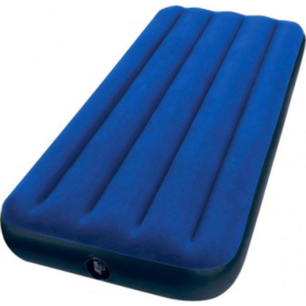 Матрас надувной Intex Classic Downy Airbed (Jr. Twin) 68950, 191х76х22 см, Синий