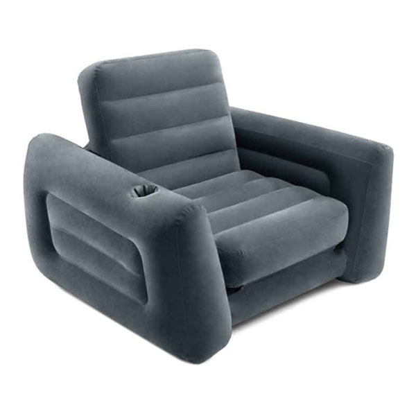 Кресло надувное Intex Pull-Out Chair 66551NP  (Серый)