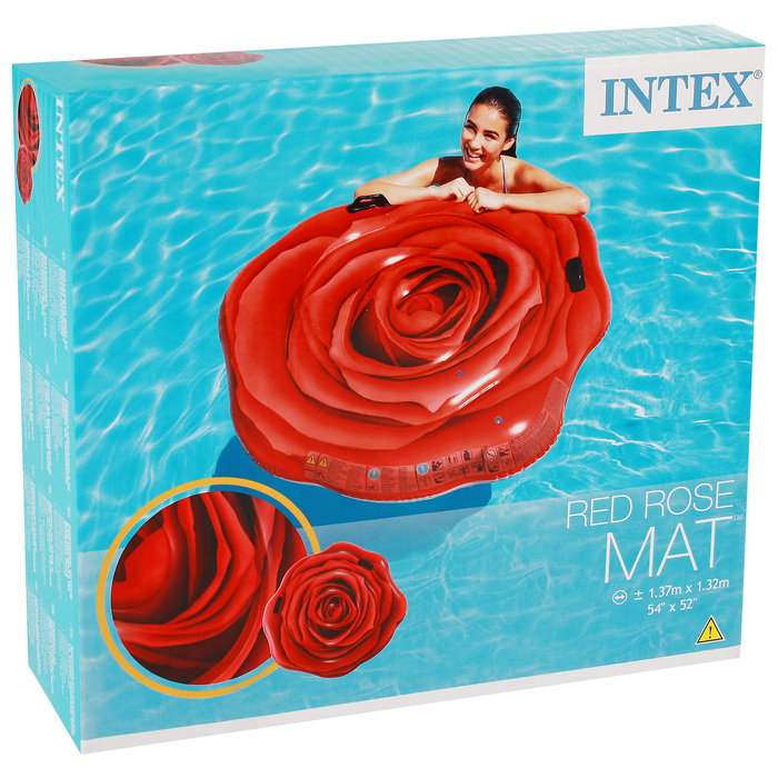 Матрас для плавания «Роза» 137х132 см, 58783EU