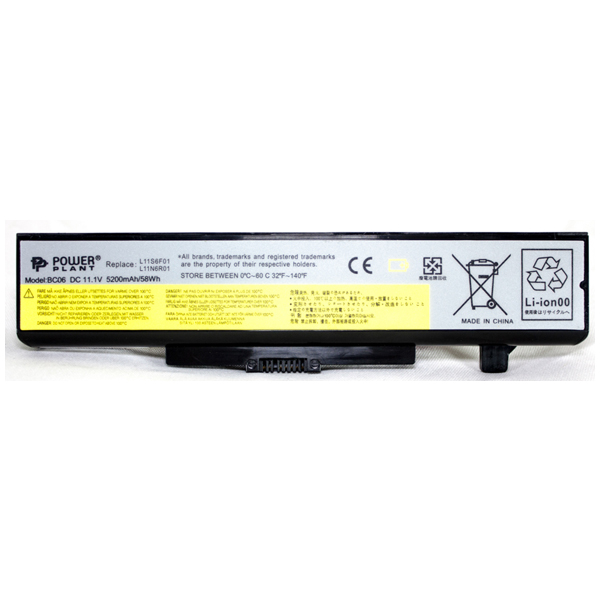 Аккумулятор PowerPlant для ноутбуков IBM/LENOVO IdeaPad G580 (L11L6F01) 11.1V 5200mAh NB00000276
