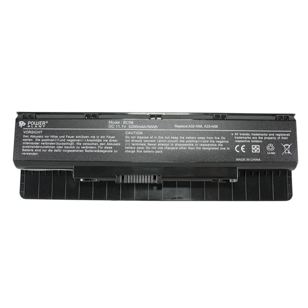 Аккумулятор PowerPlant для ноутбуков Asus N46, N56, N76 (NB00000233)