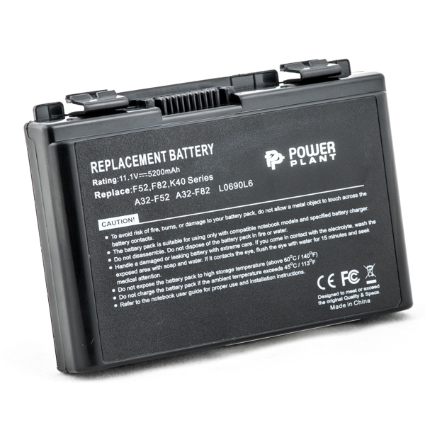 Аккумулятор PowerPlant для ноутбуков ASUS F82 (A32-F82, AS F82 3S2P) 11.1V 5200mAh NB00000058