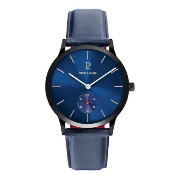 Мужские часы Pierre Lannier Cuir Bleu 222F366