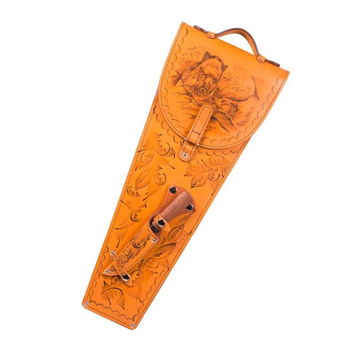Шампуры 6 шт. в колчане из натуральной кожи