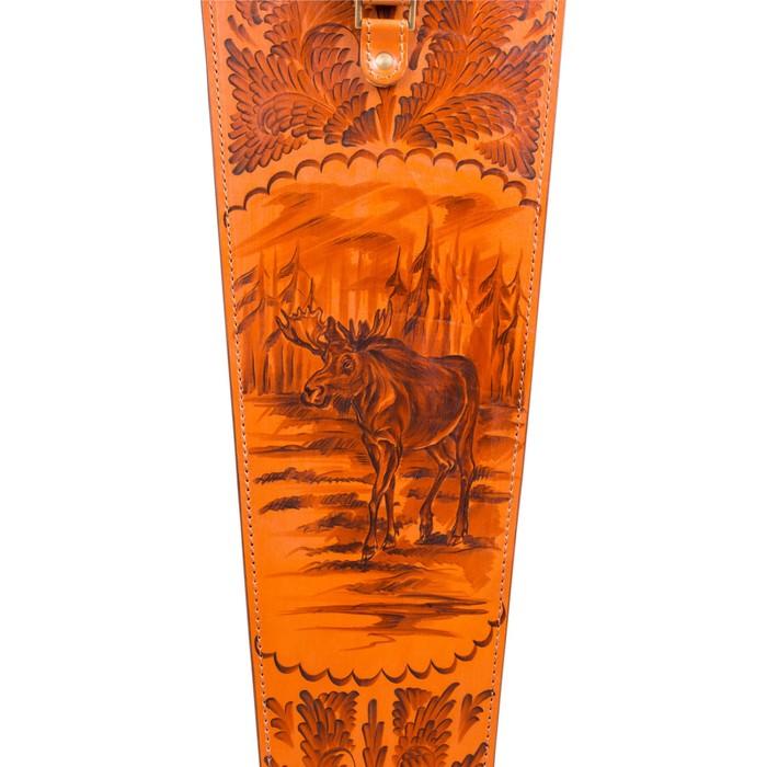 Шампуры подарочные 6 шт. в колчане из натуральной кожи.