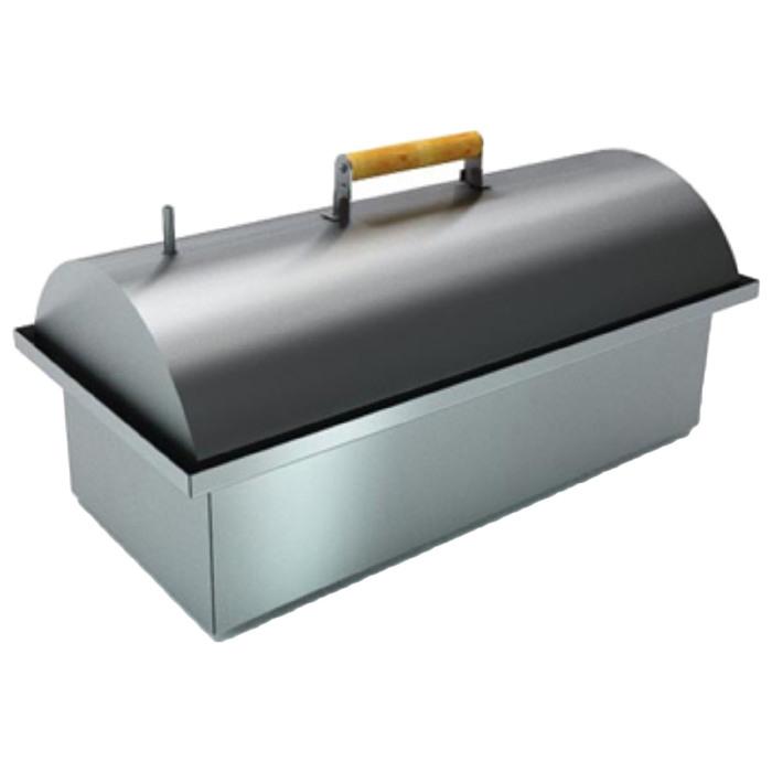 Коптильня двухъярусная с гидрозатвором Smoky Lux 55, крышка, две решётки, 55 х 38,5 х 30 см   339215