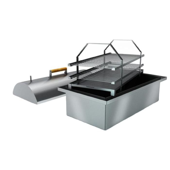 Коптильня двухъярусная с гидрозатвором Smoky Lux 75, крышка, две решётки, 73 х 38,5 х 30 см   339215